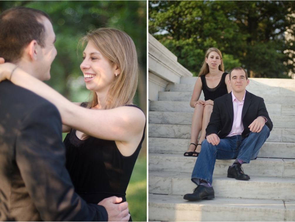 Tidal Basin Engagement Session stairs