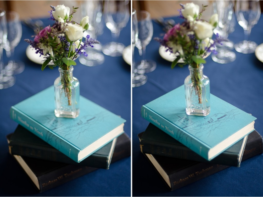St.Albans School Wedding Table decor