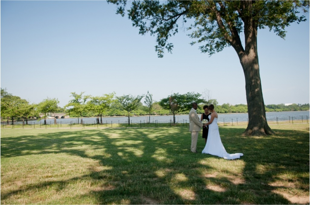 Tidal Basin Wedding Wide Shot
