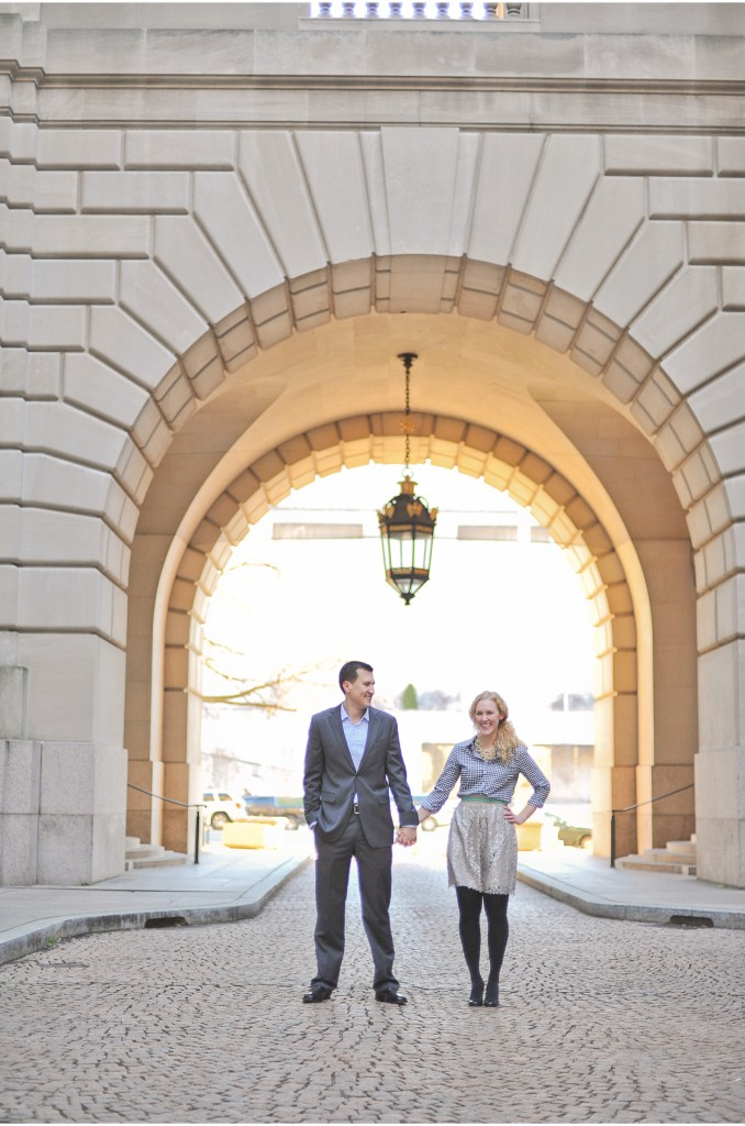downtown washington engagement