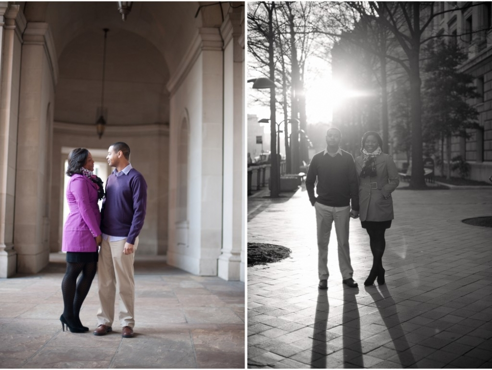 engagement dc morning photography