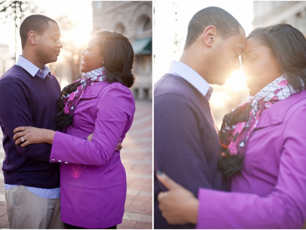 downtown dc engagement morning