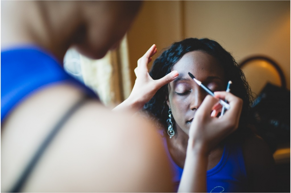 makeup getting ready wedding dc