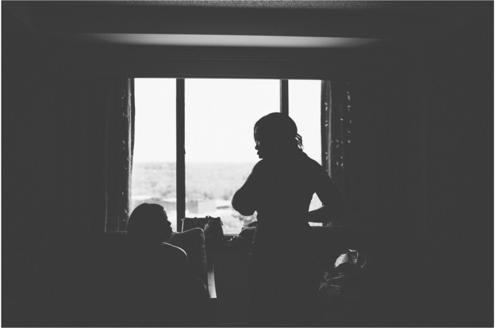 getting ready silhouette virginia wedding