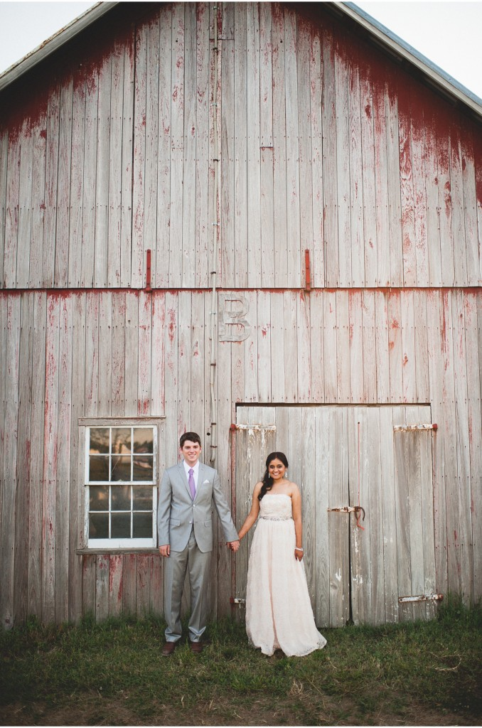 barn couple wedding portrait maryland