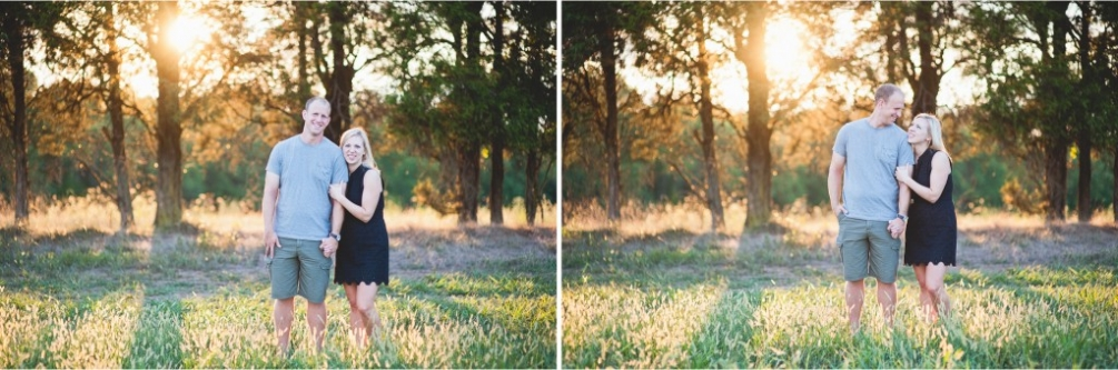 virginia farm engagement sunset