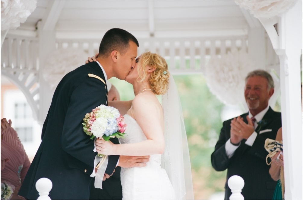 first kiss virginia wedding