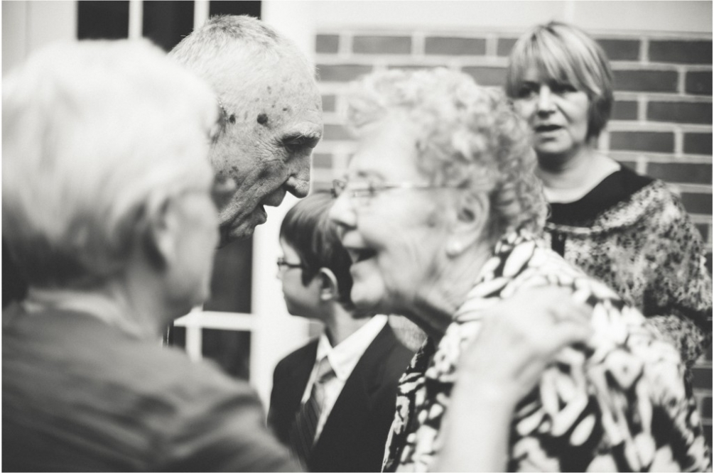 grandparents at wedding reception