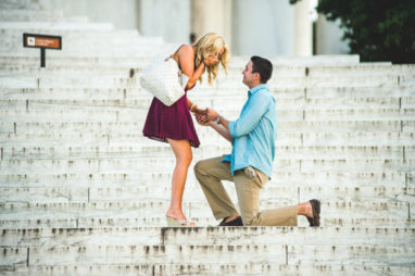 proposal at jefferson memorial